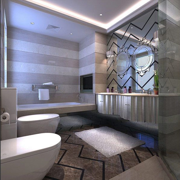 Chinese japanese and other oriental interior design for Bathroom design japanese style