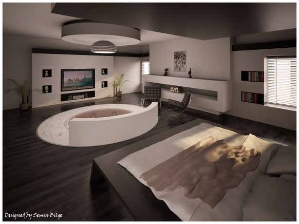 bedroom jacuzzi
