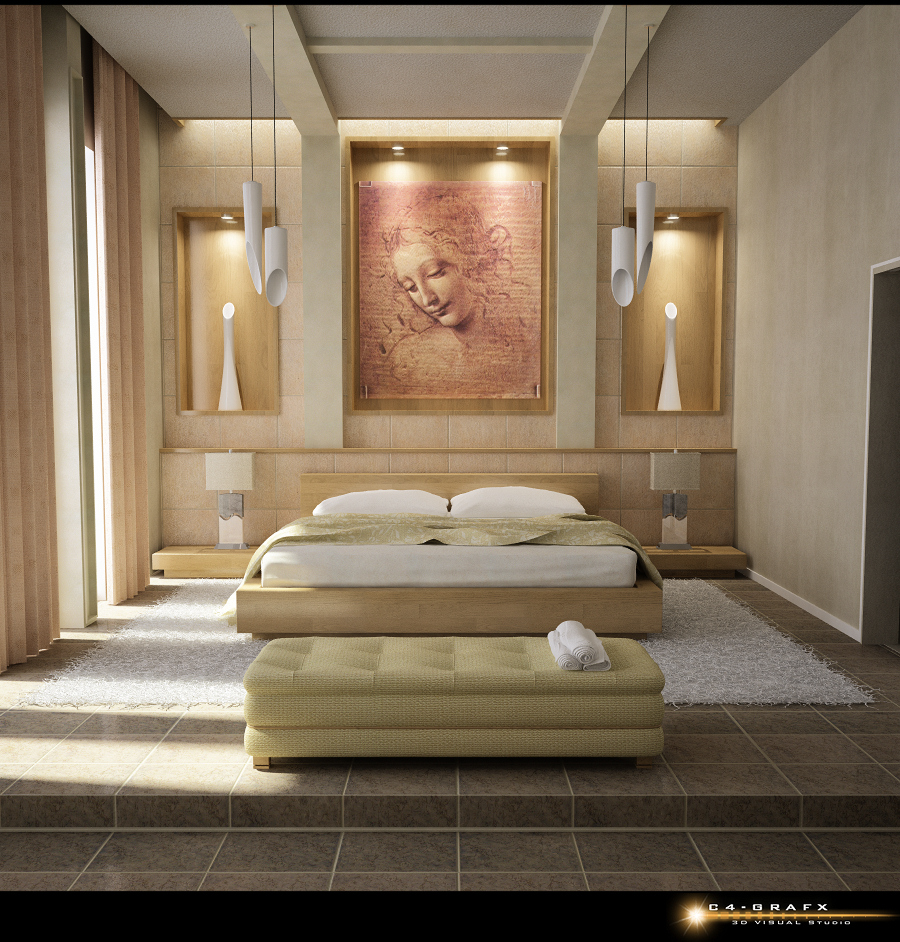 Beautiful bedroom interiors - Bedroom Wall Art