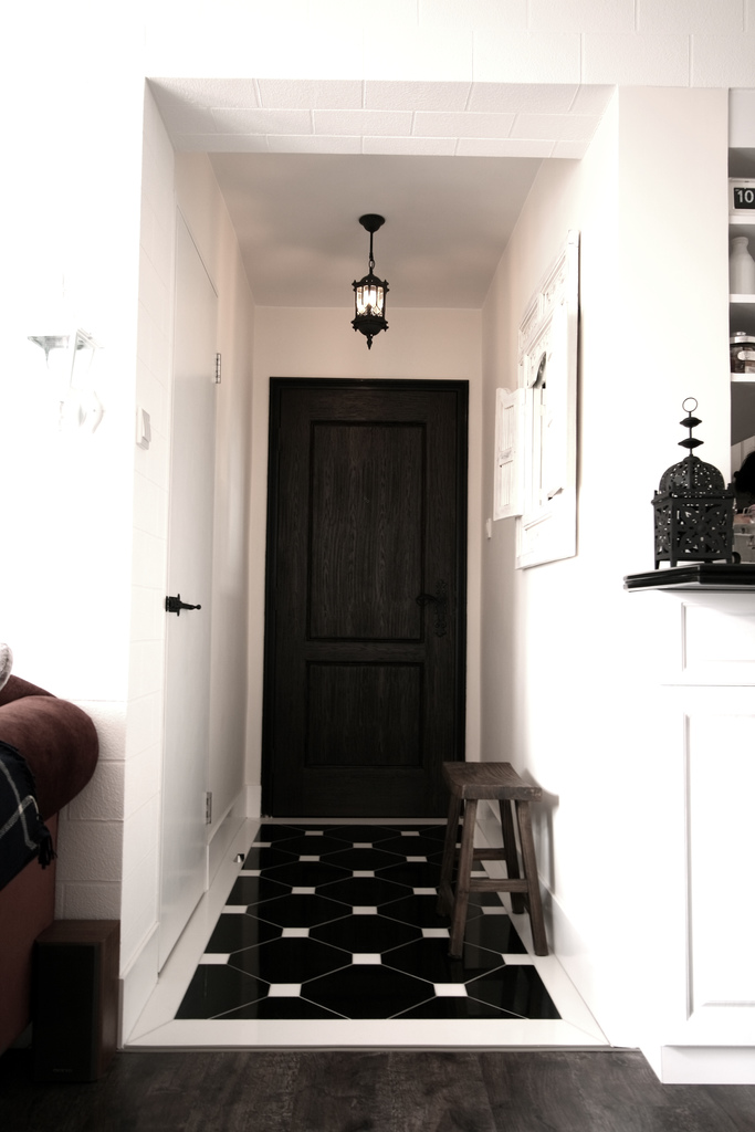Black white foyer