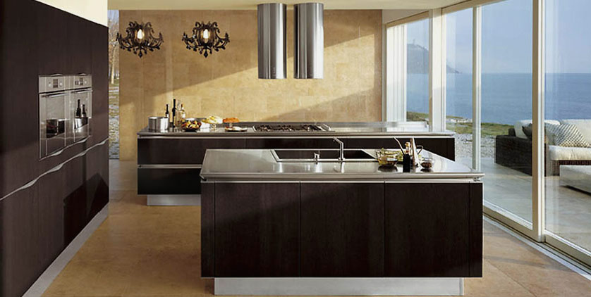 Brown kitchen designs for Dark brown kitchen ideas