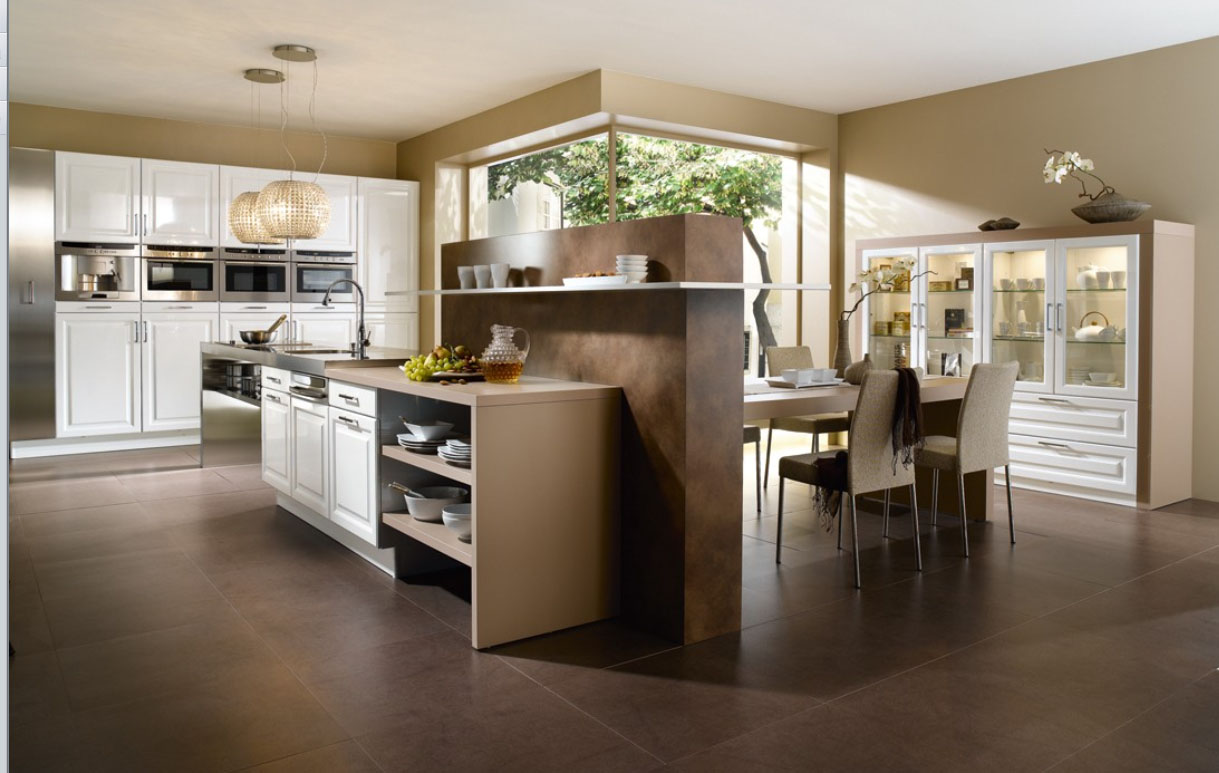 23 very beautiful french kitchens for Modern kitchen gallery
