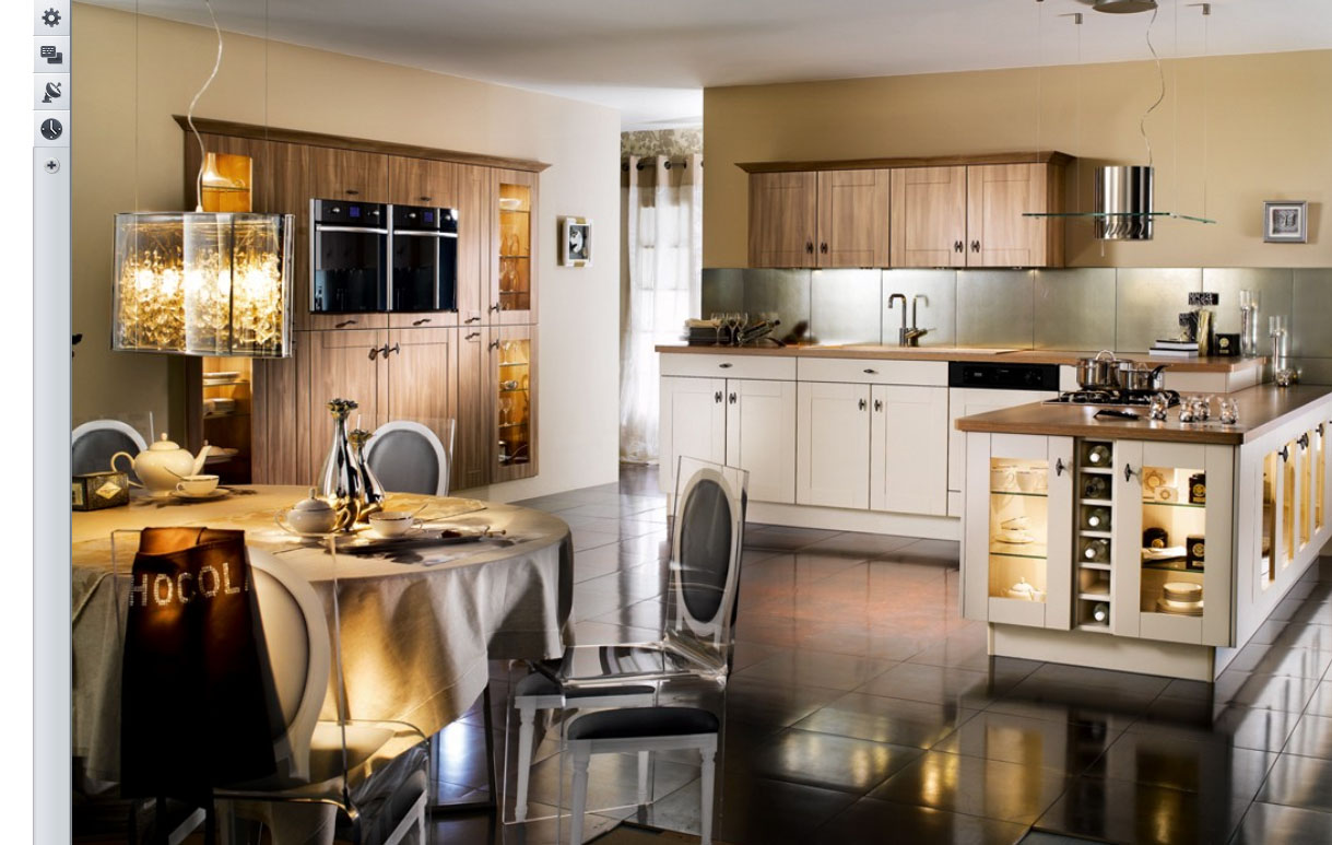 23 very beautiful french kitchens for Classic kitchen decor