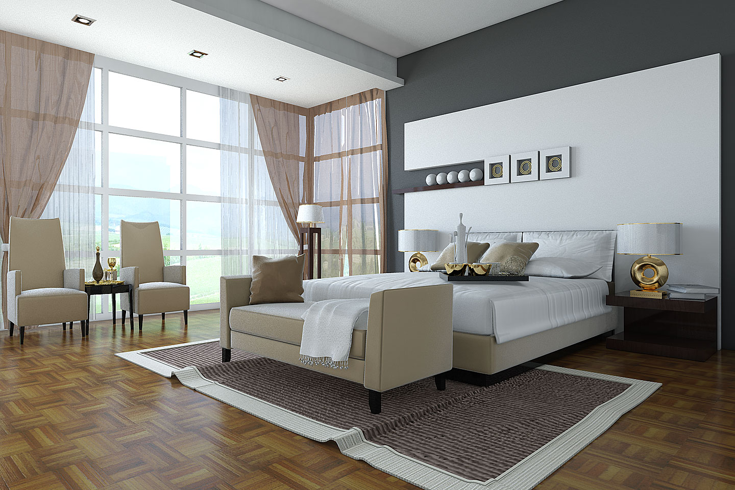 Beautiful bedroom interiors - Classic Bedroom Design