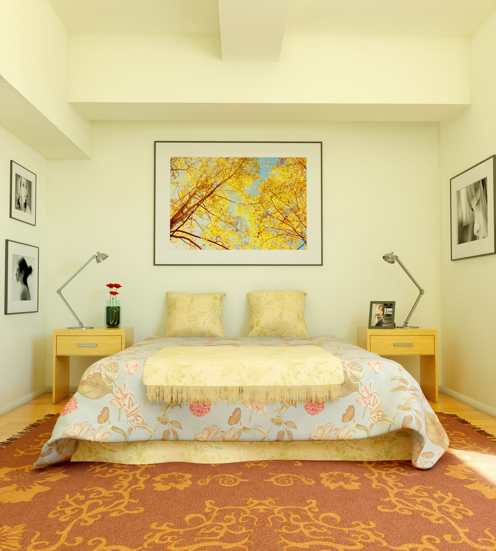 Attirant Cream Colored Bedroom