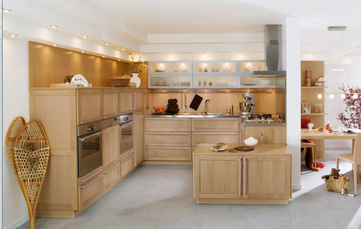 23 very beautiful french kitchens for Cuisine contemporaine design