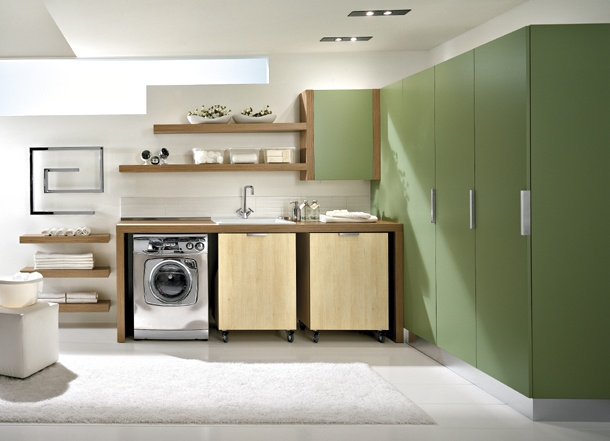 Laundry Furniture. Green Laundry Room Furniture U