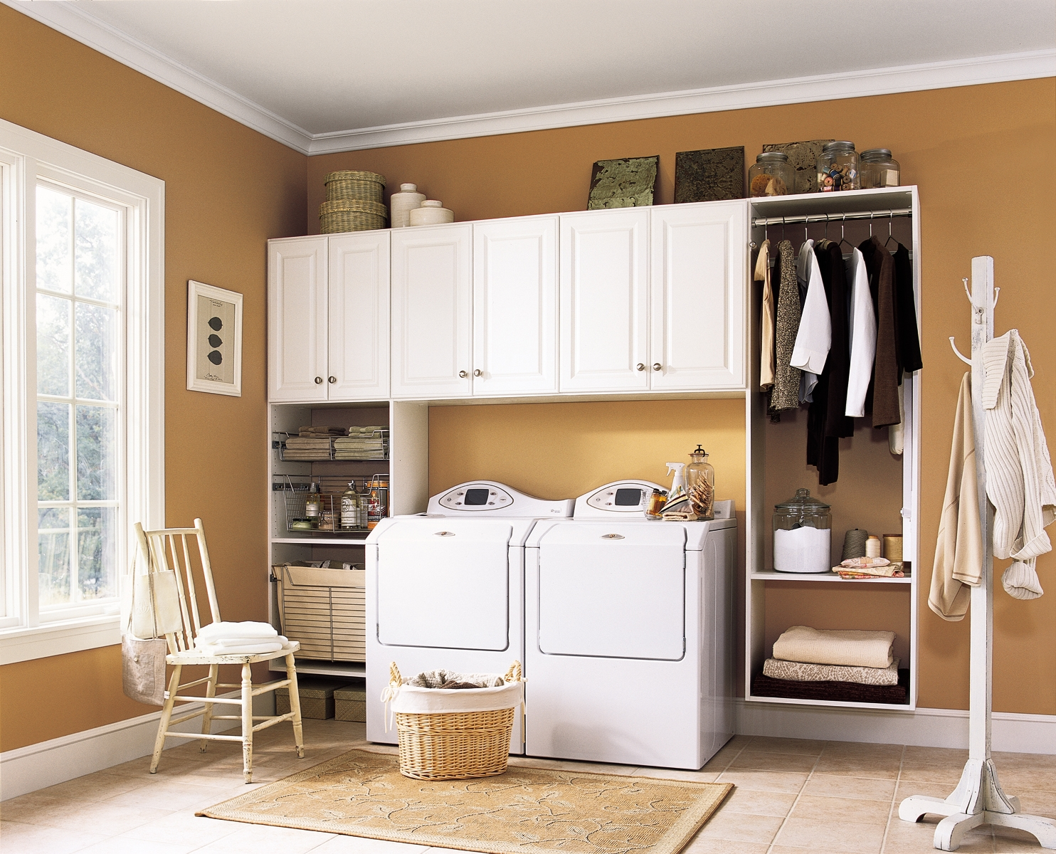 Laundry room storage organization and inspiration for Laundry room cabinets ideas