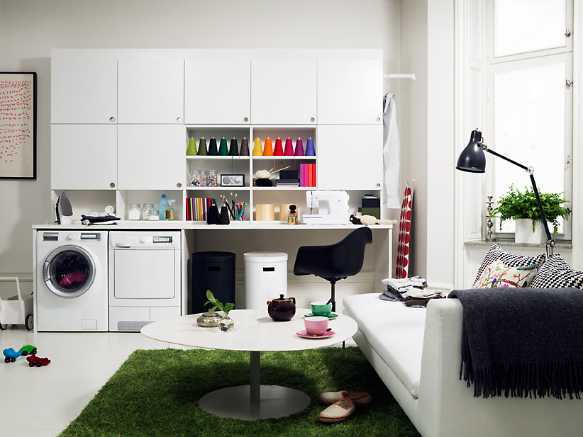 Laundry room storage organization and inspiration for Decorate a laundry room