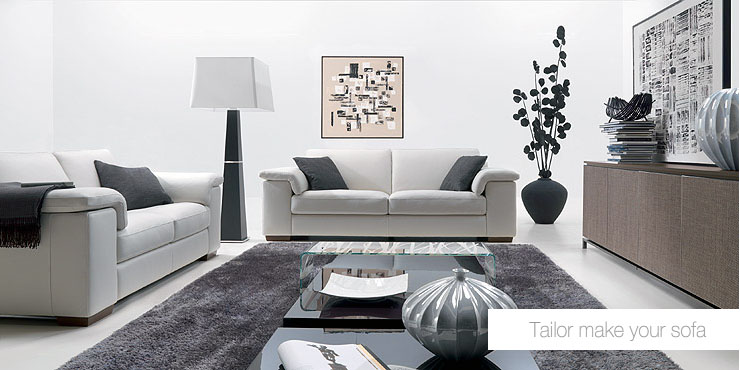 Living room sofa furniture - Gray modern living room furniture ...