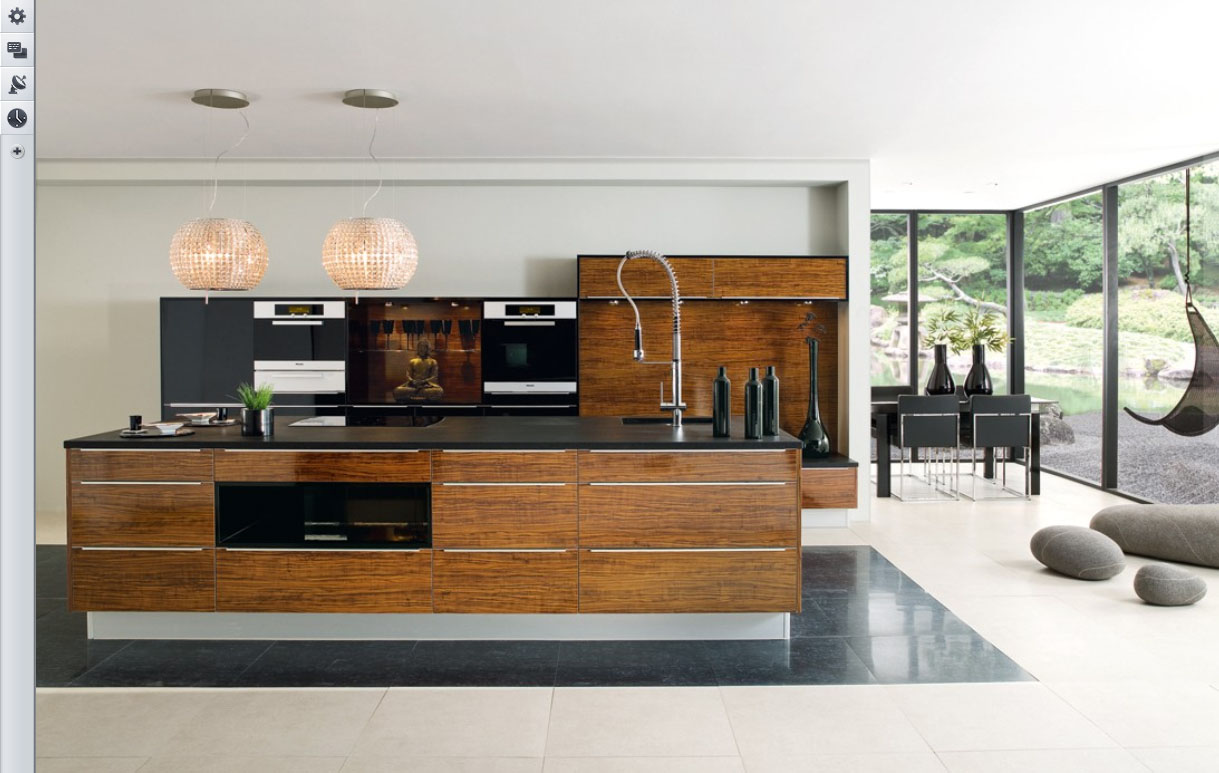 23 very beautiful french kitchens for Modern cabinets kitchen