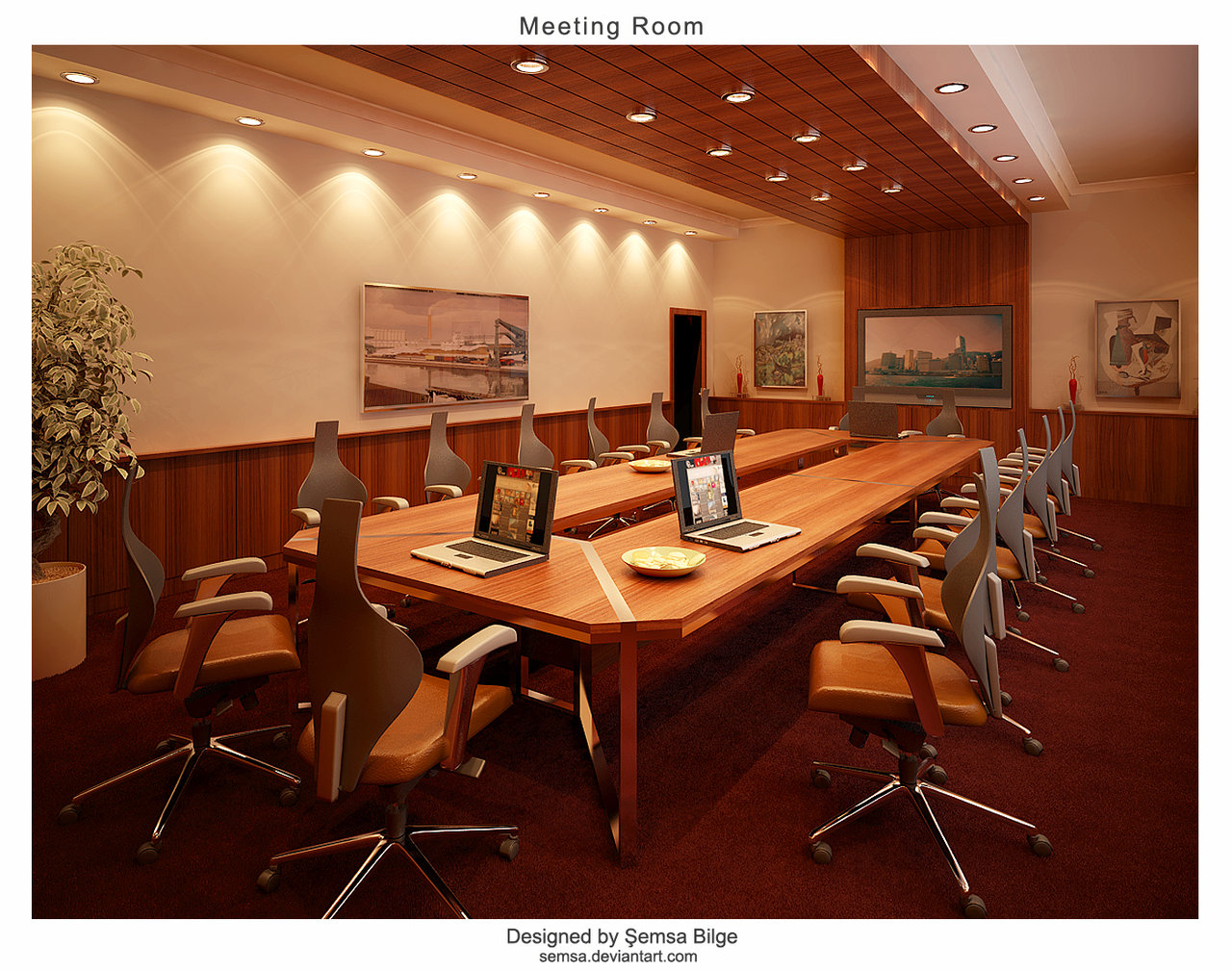 meeting room night - Conference Room Design Ideas