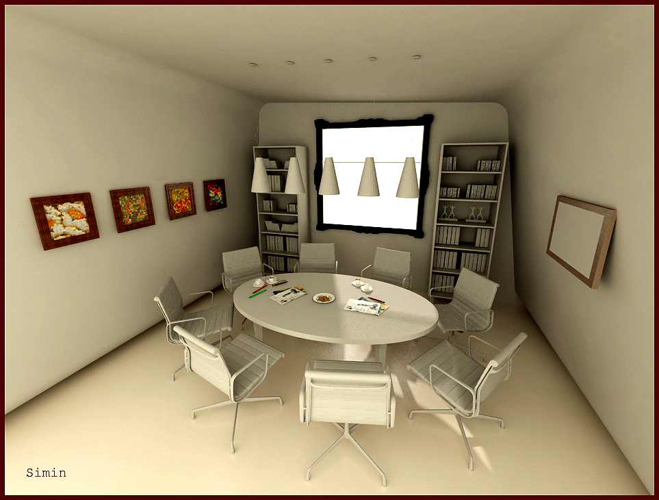 Meeting Room Design Ideas Part - 34: Round Table Meeting Room By Simin