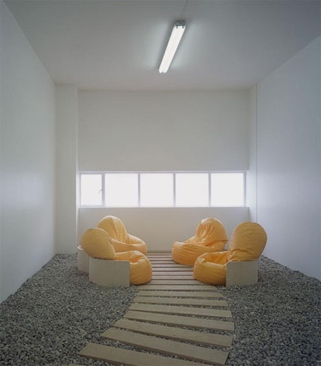 minimalistic bean bag meeting-room