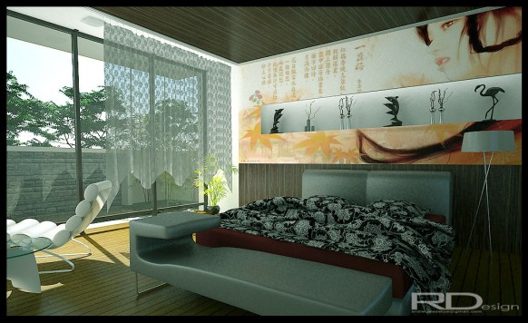 modern chinese bedroom