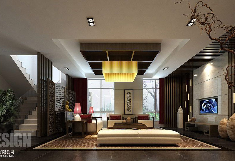 Chinese japanese and other oriental interior design for Modern chinese house design