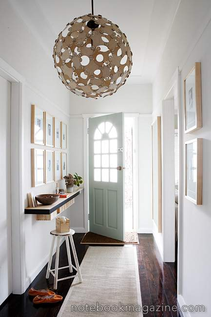 white foyer interior