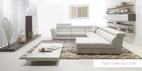 White Sofa Set. White Living Room