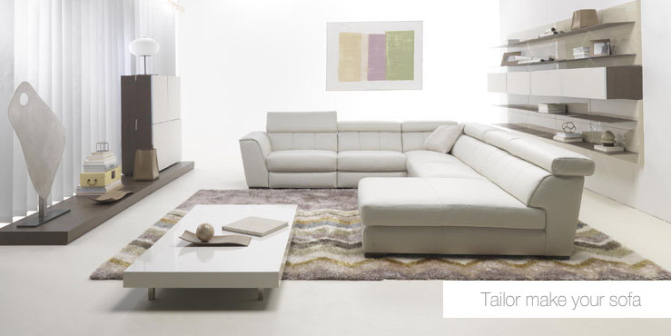 Charmant White Sofa Set