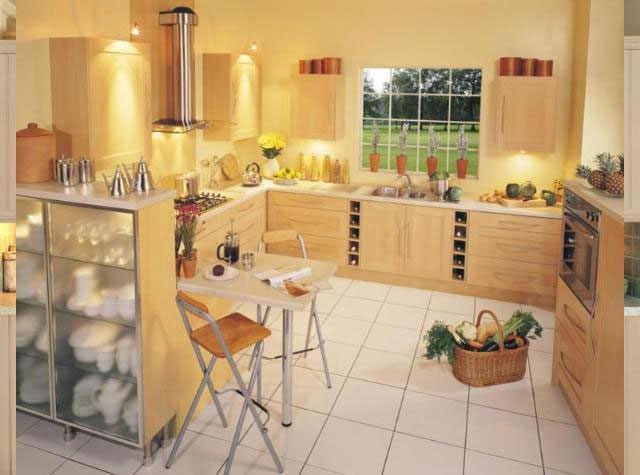 Yellow kitchens for Kitchen wall paint design