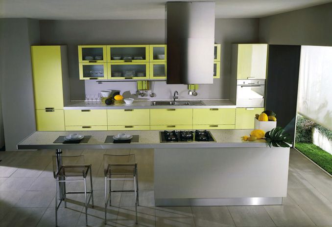 yellow kitchen by the german makers rempp
