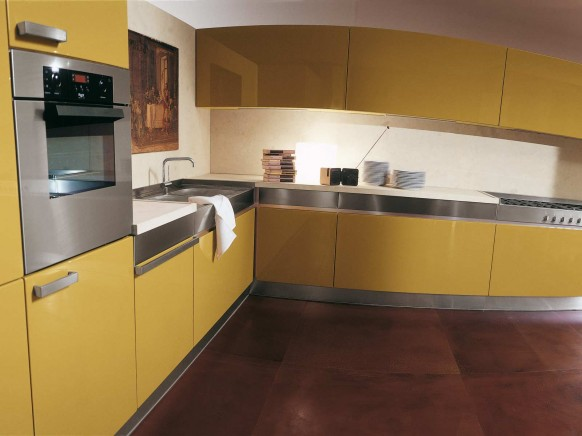 Rossana yellow kitchen