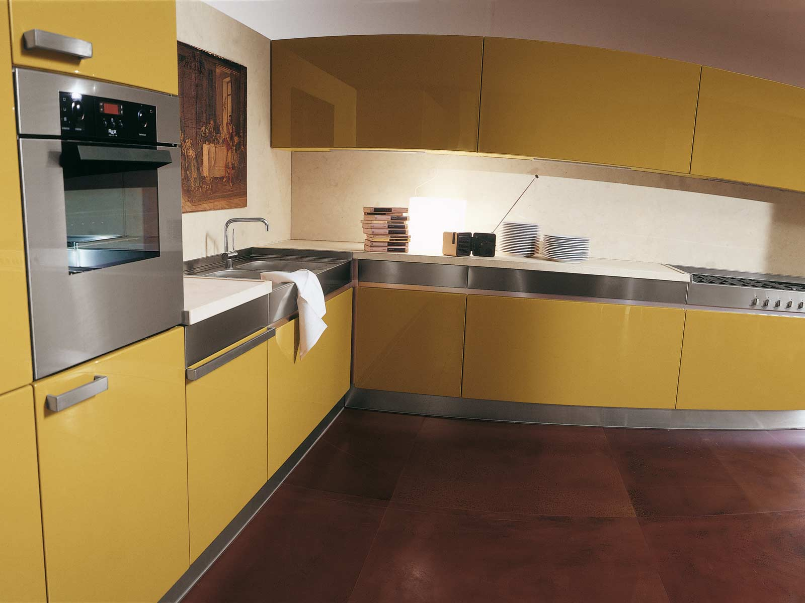 Yellow kitchens for Kitchen cabinets designs
