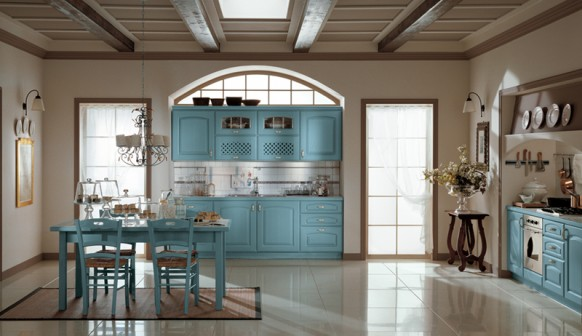 ala cucine blue kitchen closet