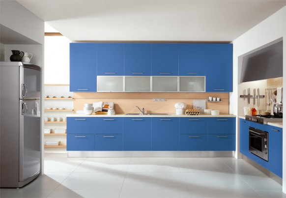 ala cucine blue modular kitchen