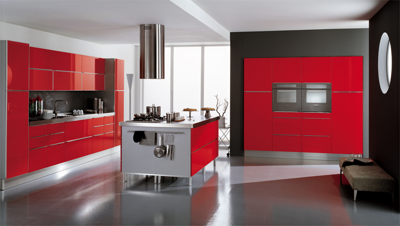 Modern Red Kitchen Ideas Simple Inspiration Design