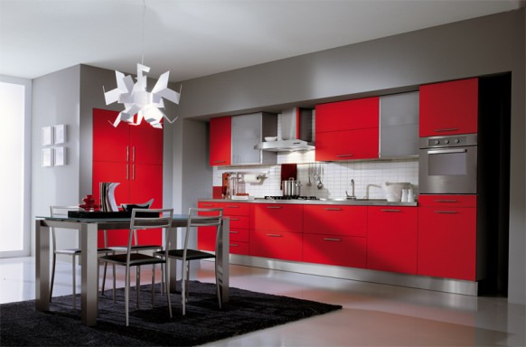 ala cucine red kitchen