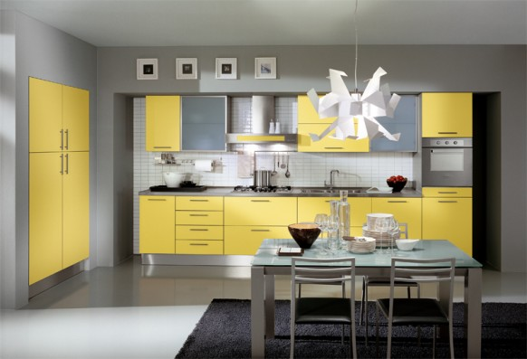 ala cucine yellow kitchen design