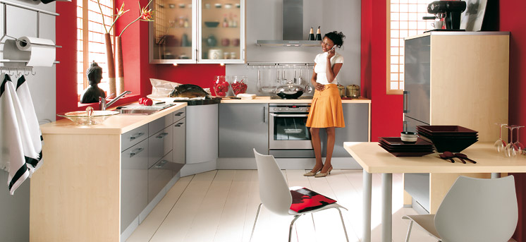 Red kitchens - Cocinas color rojo ...