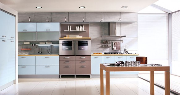 Http Www Home Designing Com 2010 02 Blue Kitchens