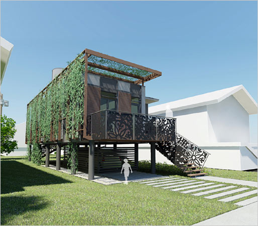 Sustainable Green Homes sustainable homes for katrina victims from brad pitt