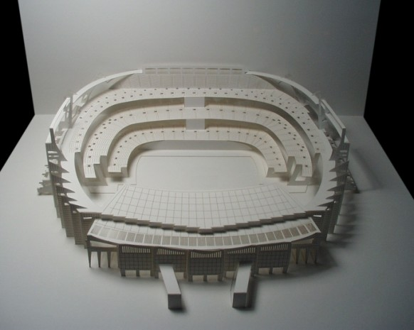 camp nou stadium paper