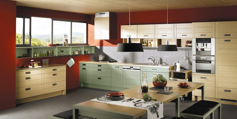 Red kitchens for Kitchen color planner