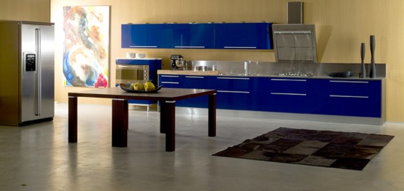 di Iorio cucine blue kitchen