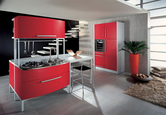 errebi srl red italian kitchen