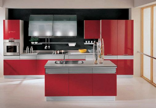 febal red italian kitchen