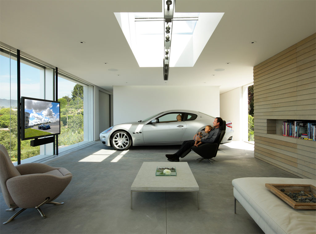 Garage design contest by maserati for Cool car garage ideas