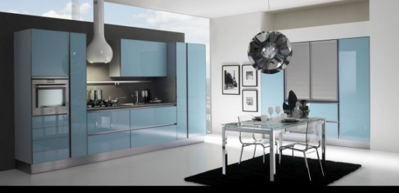 gatto cucine spa blue kitchen
