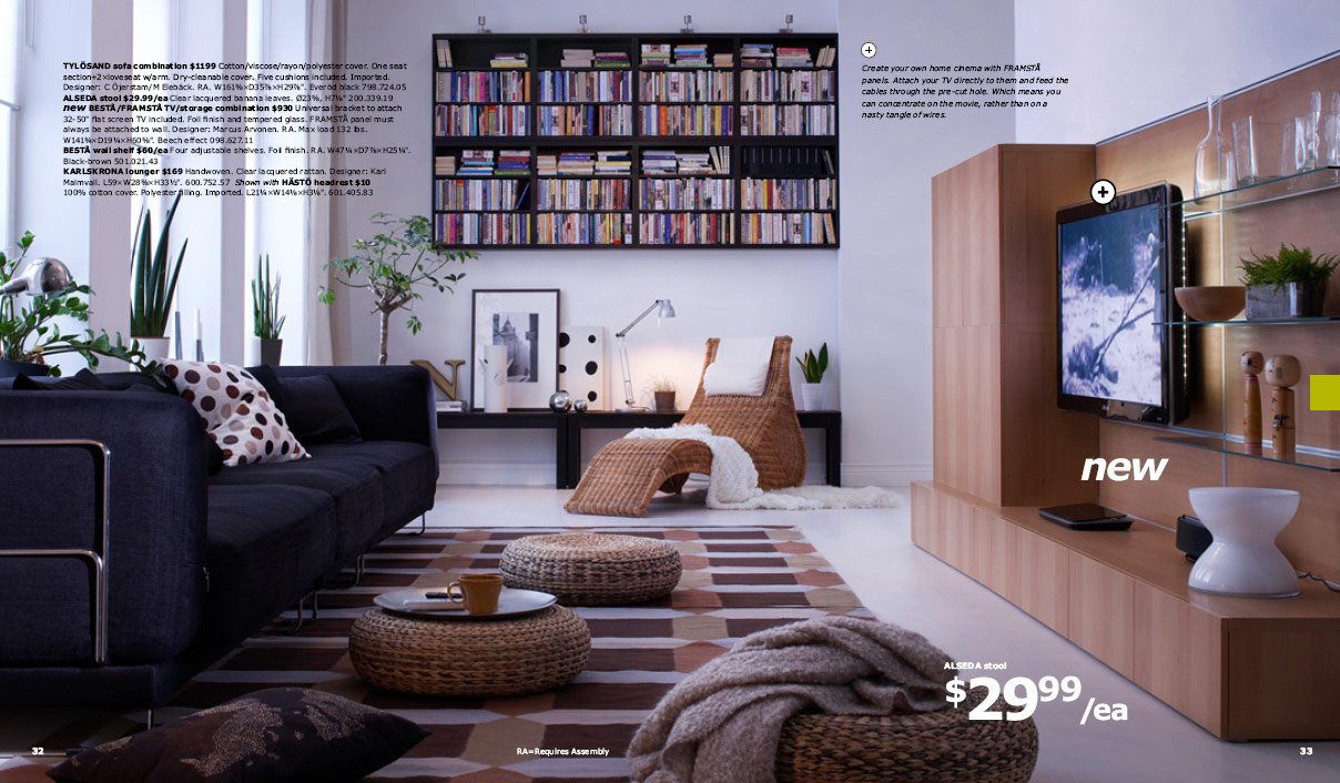 Ikea 2010 catalog for Ikea living room storage ideas