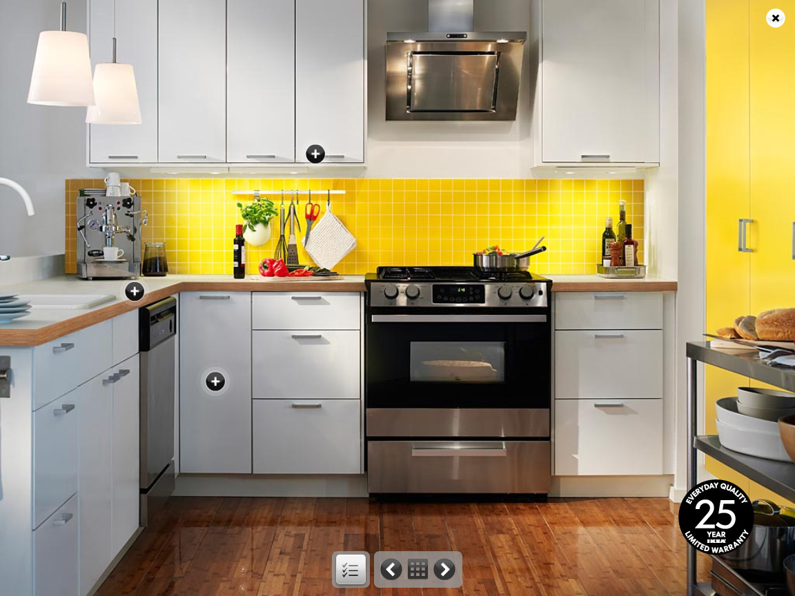 Yellow kitchens for Kitchen wall ideas