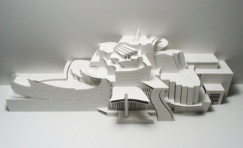 Stunning paper crafts from ingrid siliakus for Architecture origami