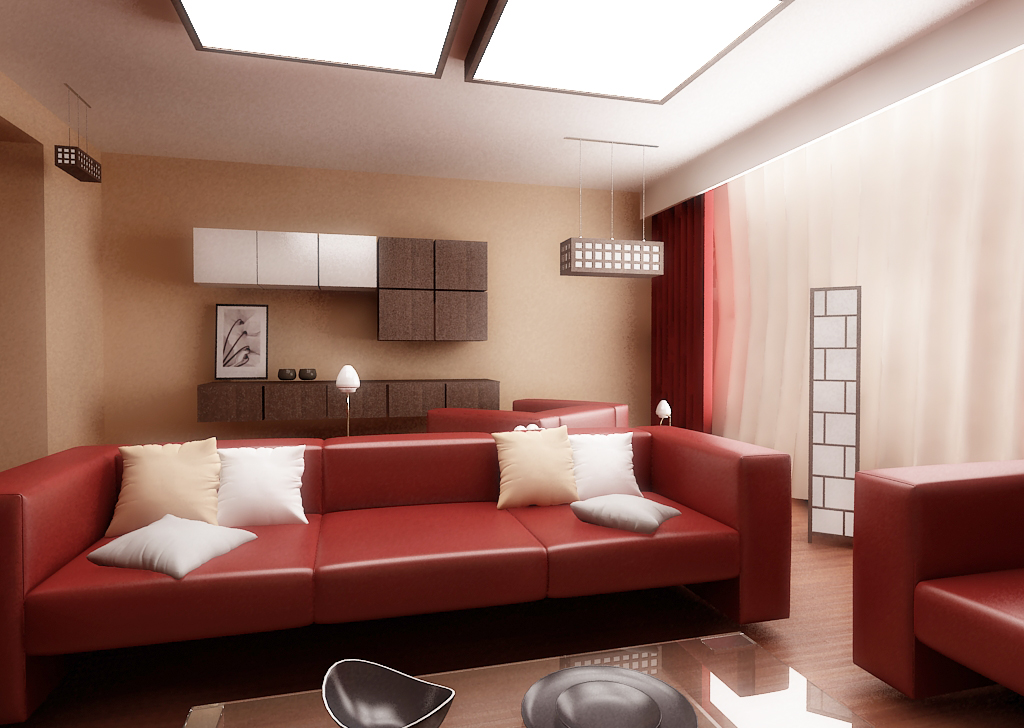 28 red and white living rooms for New room decoration ideas