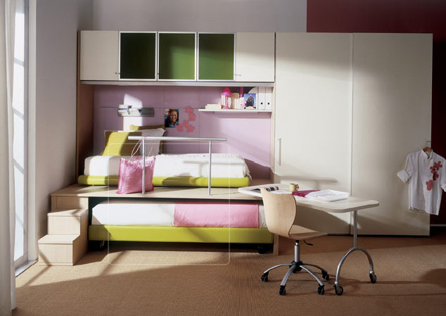 apart from making kids rooms bright ventilated and colorful the focus is on using sleek furniture giving way for space this can be achieved through - Design Kid Bedroom
