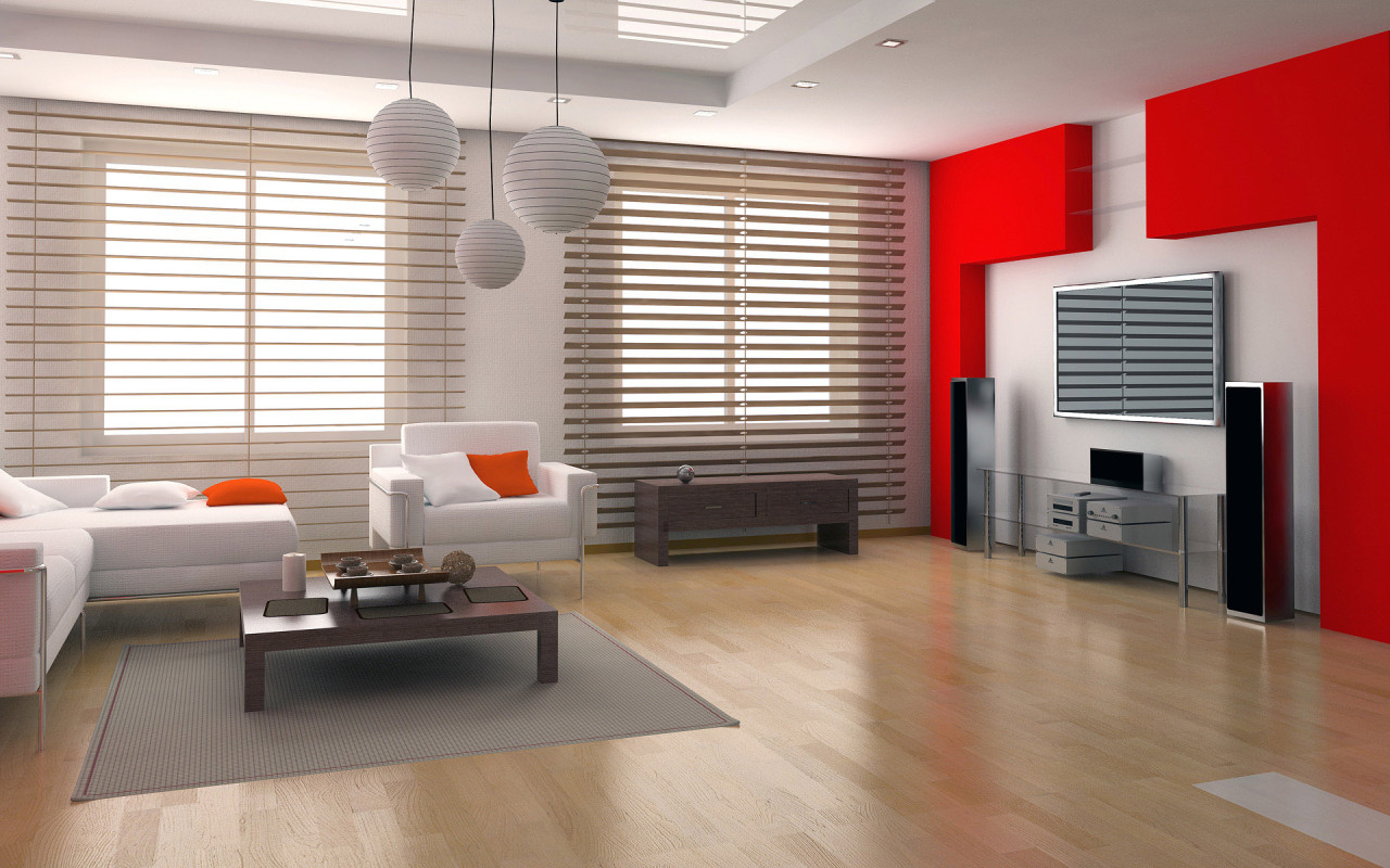 28 red and white living rooms for Home interior living room