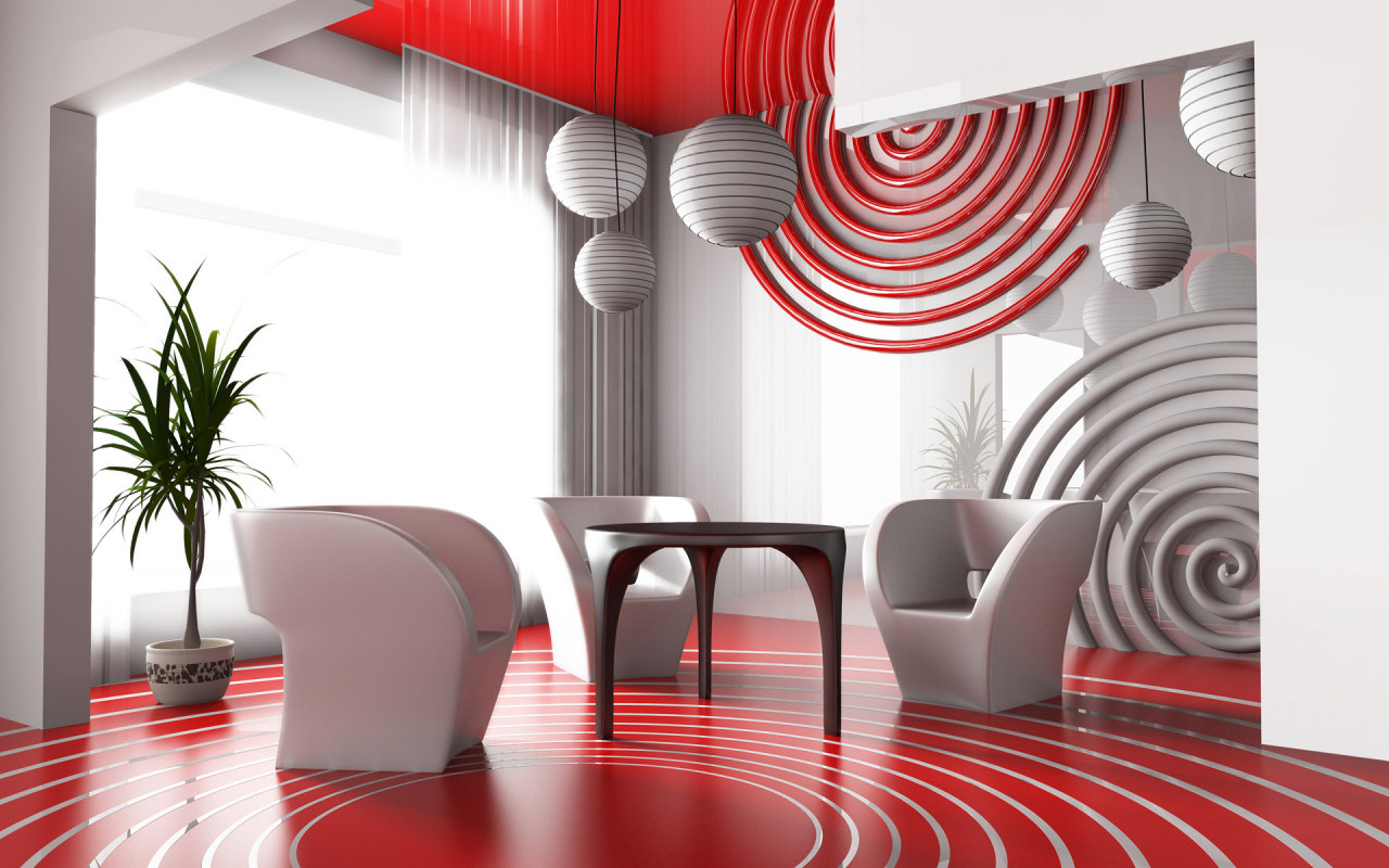 Living Room Wall Decoration Items : Red and white living rooms