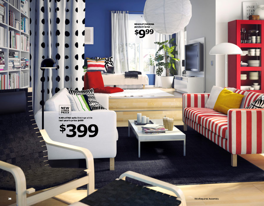 Ikea 2010 catalog for Colorful living room furniture